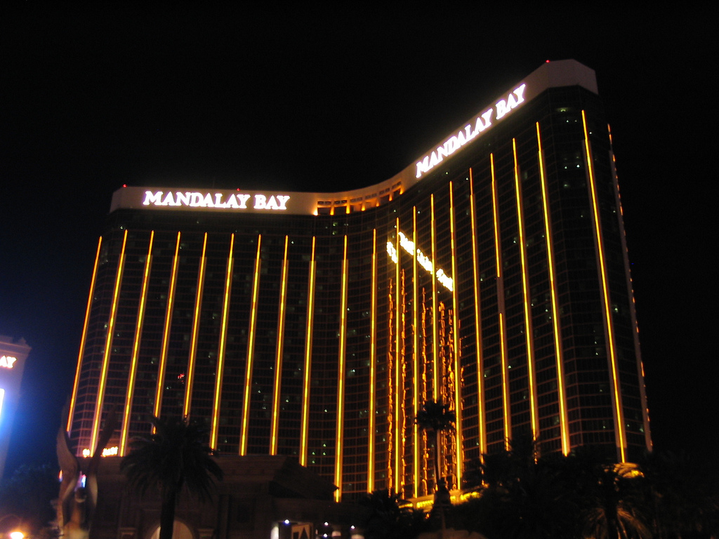 Site of Las Vegas mass shooting