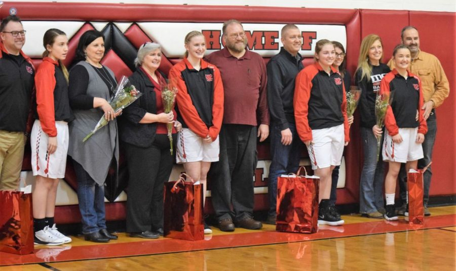 MCS Lady Flames Basketball Senior Night