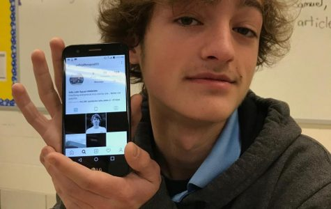 Photo of John Ballenger's phone displaying the  Instagram Profile.