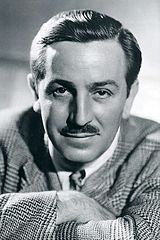Black and white photo of Walt Disney in 1946.