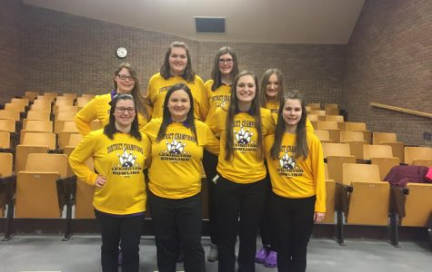 The Lexington girls' bowling team including Payge Whitesel and Abby Shewan from MCS.