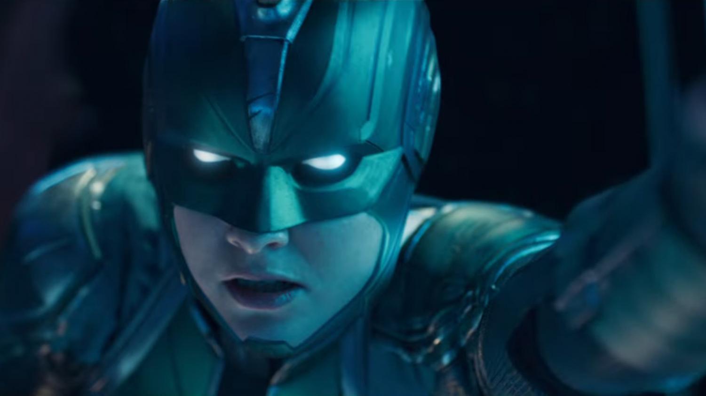 Captain Marvel in Kree uniform.