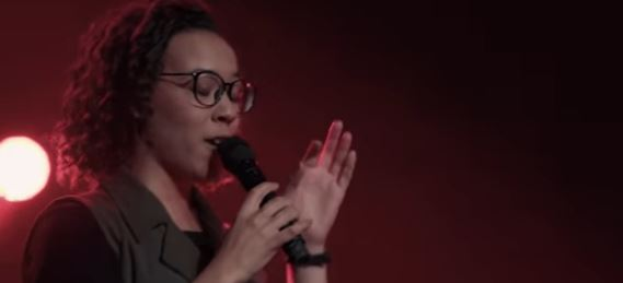 "Naomi sings ""Dancing on the Grave"" with CFNI."