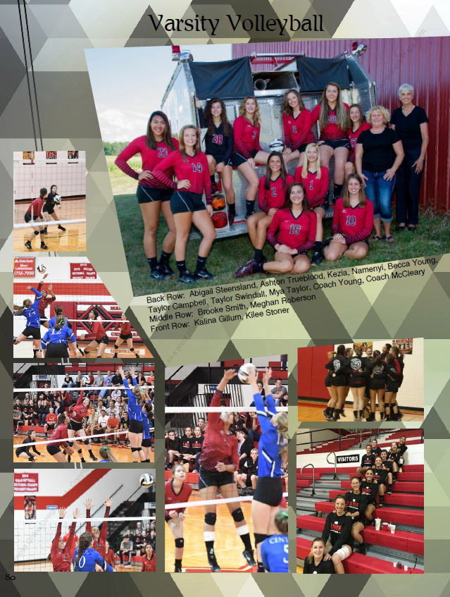 Example of a sports page from the 2017 Yearbook.