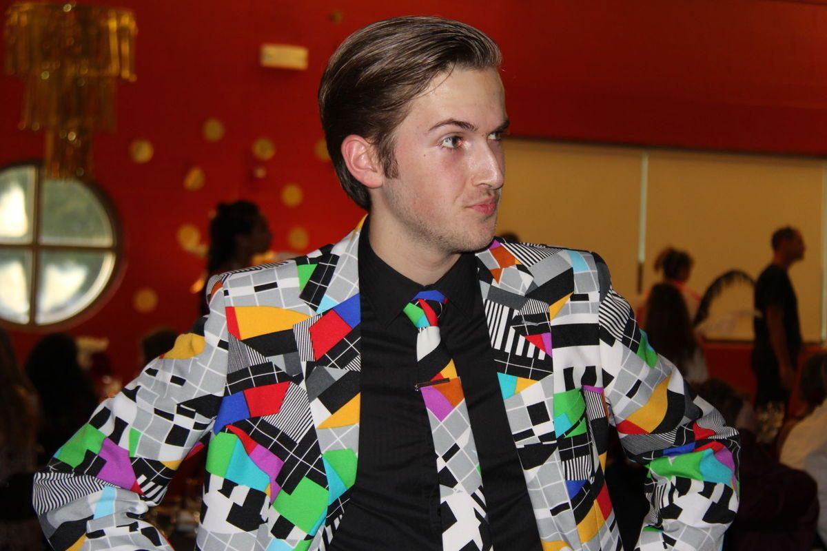 Caleb Hignites fashion pose.