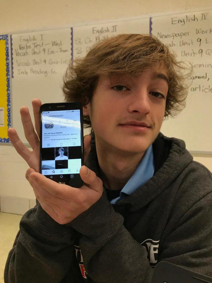 Photo of John Ballenger's phone displaying the  Instagram Profile.
